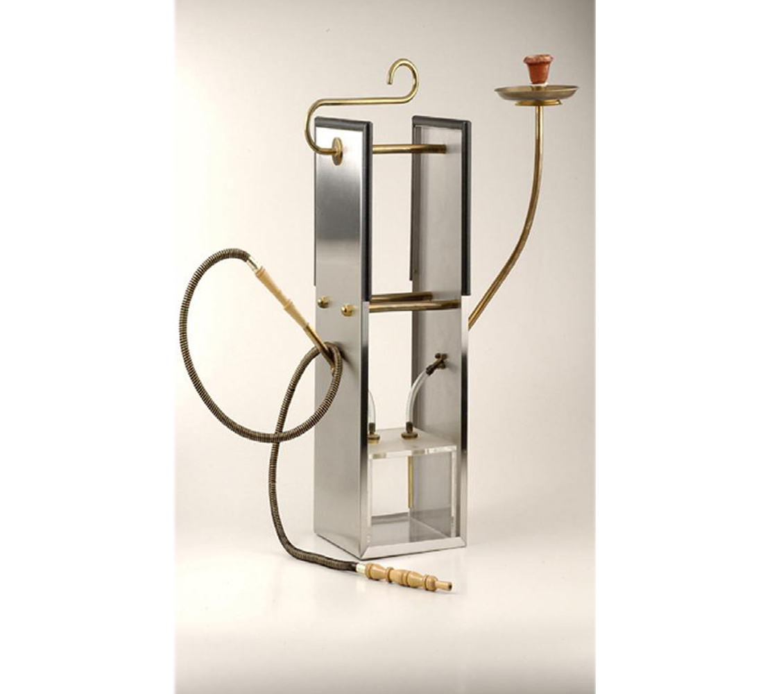 "The shisha ""U"" stainless steel & Plexiglas."
