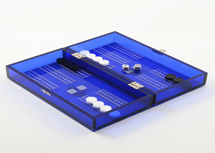 "The Backgammon dice small ""MASTARA"" Plexiglas."